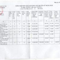 Báo cáo số 58/BC-STP của Sở Tư pháp TP. Hà Nội về tổng hợp kết quả bán đấu giá quyền sử dụng đất trên địa bàn thành phố Hà Nội